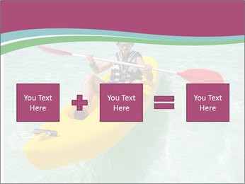 Yellow Kayak Boat PowerPoint Template - Slide 95