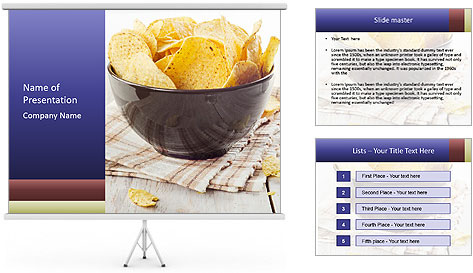 Plate Of Nachos PowerPoint Template