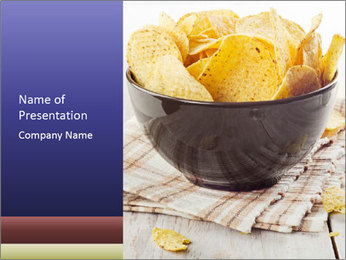 Plate Of Nachos PowerPoint Template - Slide 1