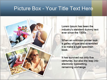 Friends Driving Car In LA PowerPoint Template - Slide 23