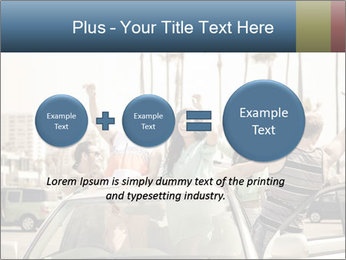 Friends Driving Car In LA PowerPoint Template - Slide 75