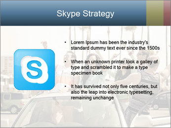 Friends Driving Car In LA PowerPoint Template - Slide 8