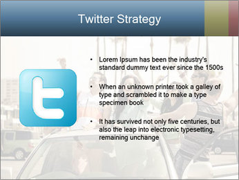 Friends Driving Car In LA PowerPoint Template - Slide 9