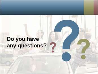 Friends Driving Car In LA PowerPoint Template - Slide 96