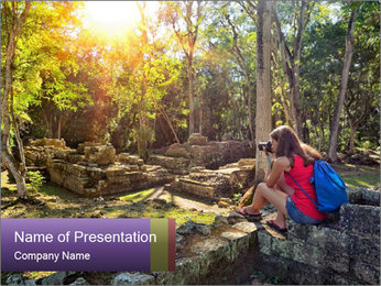 Woman Photographer PowerPoint Template - Slide 1