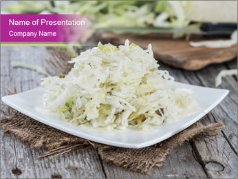 White Cabbage Salad PowerPoint Templates - Slide 1