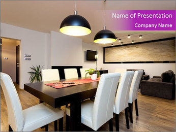Stylish Dining Room PowerPoint Template - Slide 1