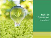 Green Light Bulb PowerPoint Templates
