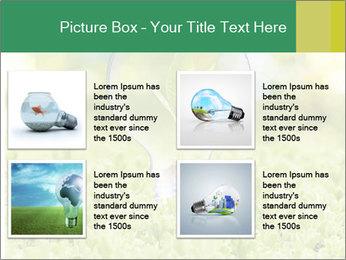 Green Light Bulb PowerPoint Template - Slide 14