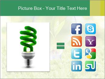 Green Light Bulb PowerPoint Template - Slide 21