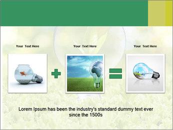 Green Light Bulb PowerPoint Template - Slide 22