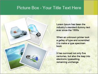 Green Light Bulb PowerPoint Template - Slide 23