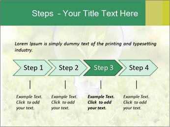 Green Light Bulb PowerPoint Template - Slide 4