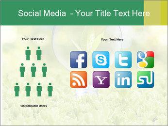 Green Light Bulb PowerPoint Template - Slide 5