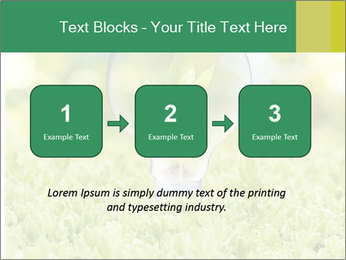 Green Light Bulb PowerPoint Template - Slide 71