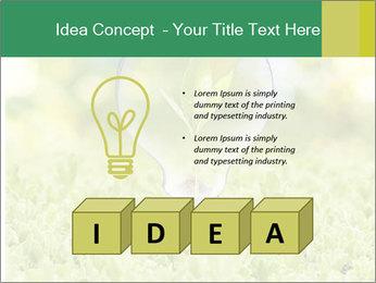 Green Light Bulb PowerPoint Template - Slide 80
