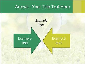 Green Light Bulb PowerPoint Template - Slide 90