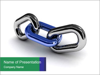 Three Pieces Of Chain PowerPoint Template - Slide 1