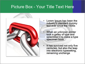 Three Pieces Of Chain PowerPoint Template - Slide 13
