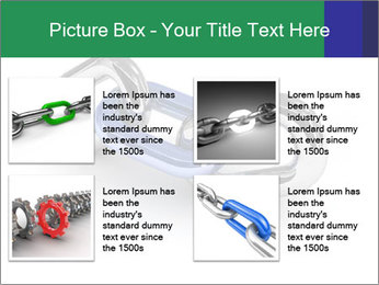 Three Pieces Of Chain PowerPoint Template - Slide 14