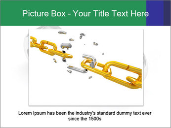 Three Pieces Of Chain PowerPoint Template - Slide 16