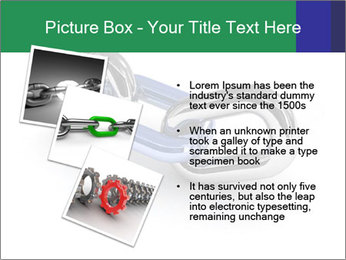 Three Pieces Of Chain PowerPoint Template - Slide 17