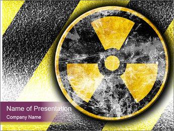 Nuclear Sign PowerPoint Template - Slide 1