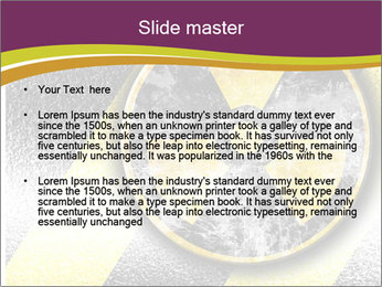 Nuclear Sign PowerPoint Template - Slide 2