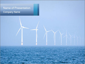 Windfarm PowerPoint Templates - Slide 1