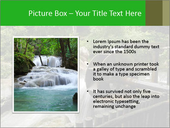 Beautiful Water Cascade PowerPoint Template - Slide 13