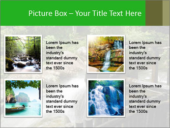 Beautiful Water Cascade PowerPoint Template - Slide 14