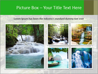 Beautiful Water Cascade PowerPoint Template - Slide 19