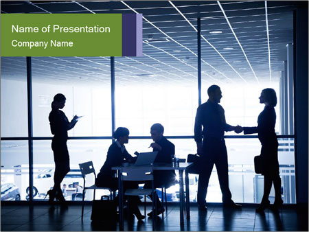 Busy Day In Office PowerPoint Template