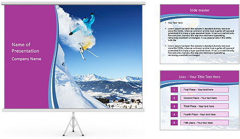 Sky Competition PowerPoint Template