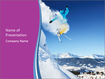 Sky Competition PowerPoint Template - Slide 1