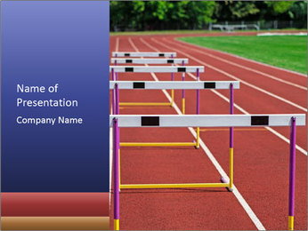 Running Competition PowerPoint Template - Slide 1