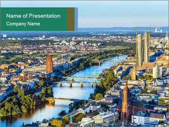 Frankfurt City PowerPoint Template - Slide 1