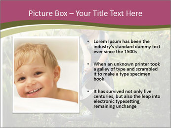 Small Girl Gardening PowerPoint Templates - Slide 13