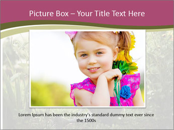 Small Girl Gardening PowerPoint Templates - Slide 15