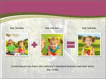 Small Girl Gardening PowerPoint Templates - Slide 22