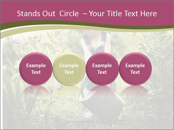 Small Girl Gardening PowerPoint Templates - Slide 76