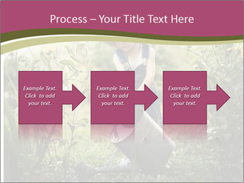 Small Girl Gardening PowerPoint Templates - Slide 88