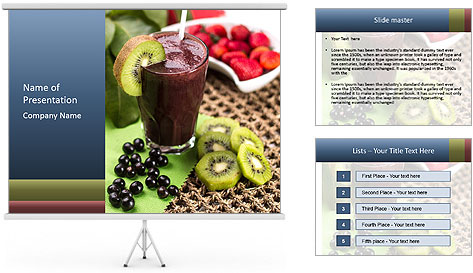 Smoothie Snack PowerPoint Template