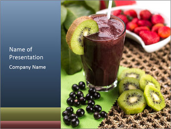 Smoothie Snack PowerPoint Template - Slide 1