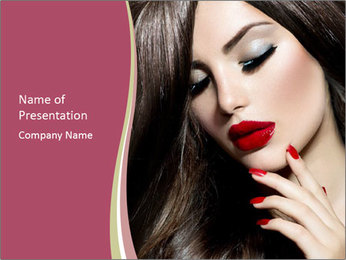 Polished Fashion Model Portrait PowerPoint Template