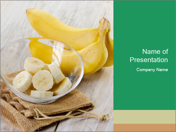 Freshly Sliced Banana PowerPoint Template