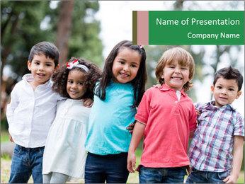 Happy Kindergarten Kids PowerPoint Template - Slide 1