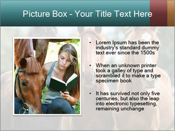 Three Beautiful Horses PowerPoint Template - Slide 13