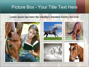 Three Beautiful Horses PowerPoint Template - Slide 19