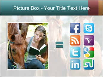 Three Beautiful Horses PowerPoint Template - Slide 21